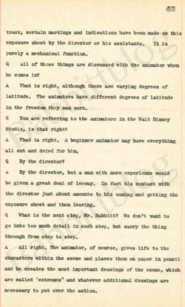 Babbitt courtroom transcript p42